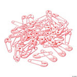 Pastel Pink Mini Safety Pin Favors