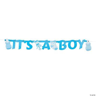 It's A Boy Letter Banner