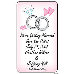 "Personalized Wedding Ring ""Save The Date"" Magnets"