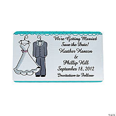 "Personalized Wedding Gown & Tux ""Save The Date"" Magnets"