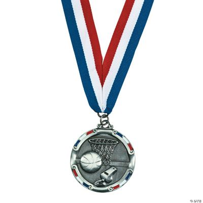 Personalized Antiqued Basketball Medal