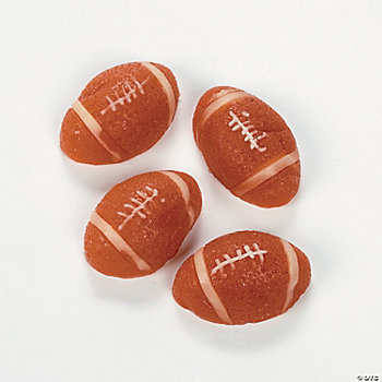 Football-Shaped Gummy Candy