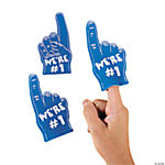Team Spirit Mini Foam Fingers - Blue