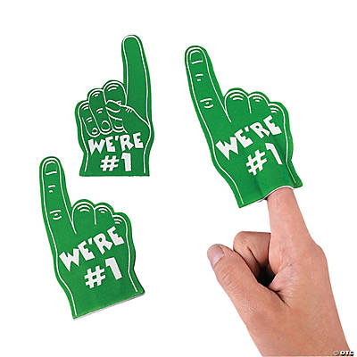 Team Spirit Mini Foam Fingers - Green