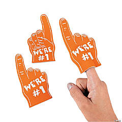 Foam Team Spirit Orange Mini Foam Fingers