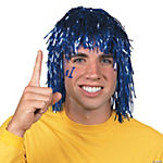 Los Altos High School Conquerors Blue Pom-Pom Tinsel Wig