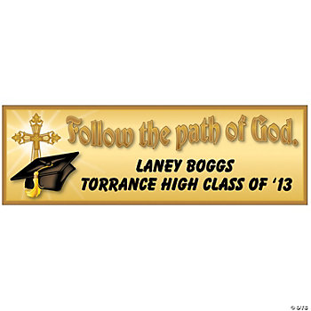 Personalized Religious Graduation Banner