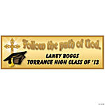 Personalized Religious Graduation Banner - Medium