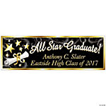 "Personalized ""All Star Graduate"" Banner - Small"