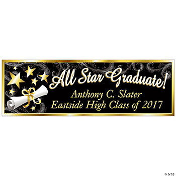 """All Star Graduate"" Banner — Small"