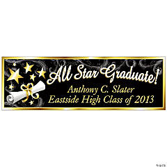 "Personalized ""All Star Graduate"" Banner - Large"