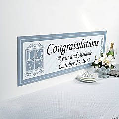 Personalized Love Wedding Banner - Small