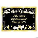"Personalized ""All Star Graduate"" Yard Sign"