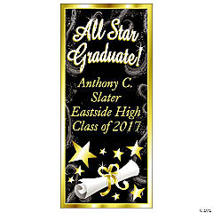 "Personalized ""All Star Graduate"" Door Cover"