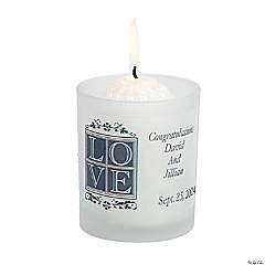 "Personalized Wedding ""Love"" Votive Holders"
