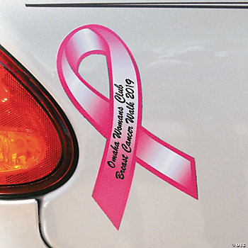 Personalized Pink Ribbon Car Magnets