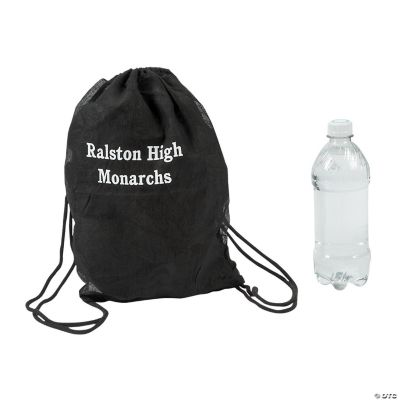black-personalized-drawstring-backpacks