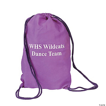 Personalized Purple Drawstring Backpacks
