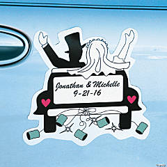 """Just Married"" Car Magnet"