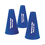 Personalized Blue Megaphones