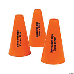 Personalized Orange Megaphones