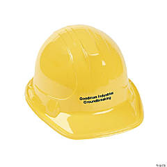 Personalized Yellow Construction Hats