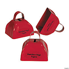 Personalized Red Cowbells