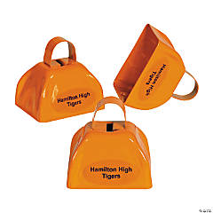 Personalized Orange Cowbells
