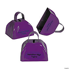 Personalized Purple Cowbells