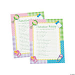 "Paper ""I Remember Mommy"" Baby Shower Game"