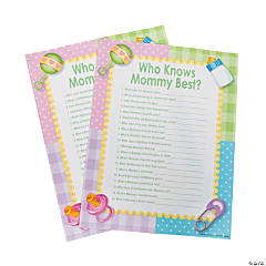 """Who Knows Mommy Best"" Baby Shower Game"