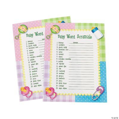 oriental trading baby shower word scramble game customer reviews