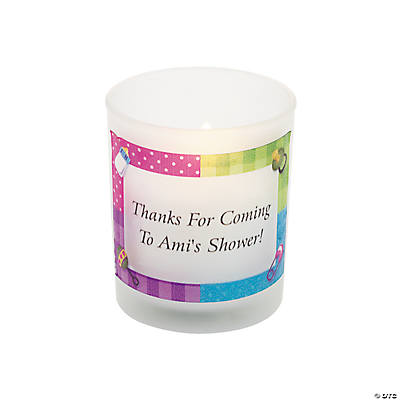 Personalized Baby Shower Votive Holders
