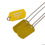 Personalized Dog Tag Necklaces - Gold