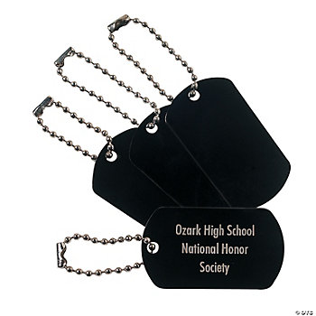 Personalized Black Dog Tag Key Chains