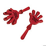 Personalized Red Hand Clappers