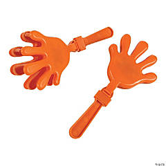 Plastic Orange Hand Clappers