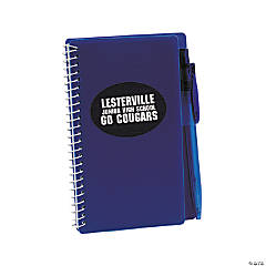 Personalized Blue Spiral Notebook And Pen Sets