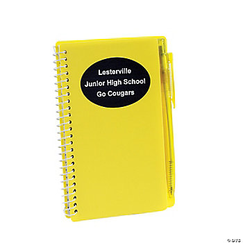 Personalized Yellow Spiral Notebook And Pen Sets