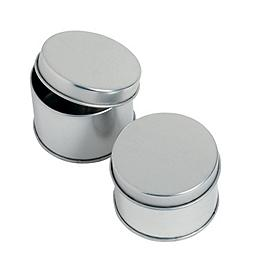 Round Silvertone Tins Favor Containers