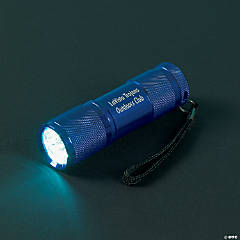 Personalized Blue Aluminum LED Flashlight
