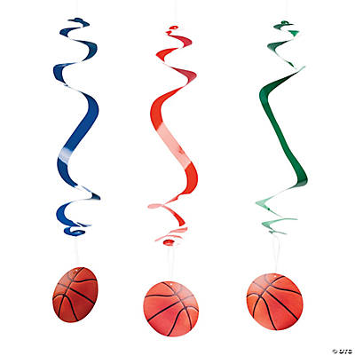 Basketball Hanging Swirl Decorations