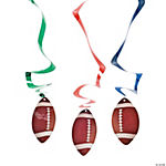 12 Football Hanging Swirl Decorations
