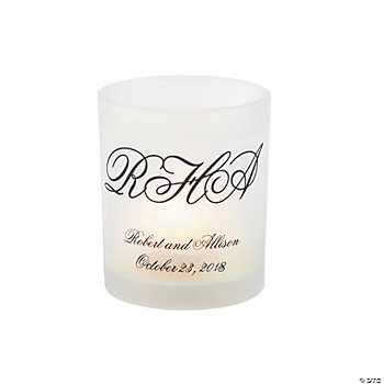 Personalized Initialed Votive Holders