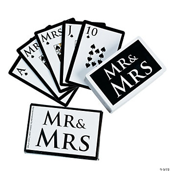 """Mr. & Mrs."" Wedding Playing Cards"