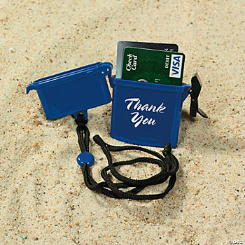 Personalized Beach Safe Containers - Blue