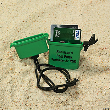 Personalized Beach Safe Containers - Green