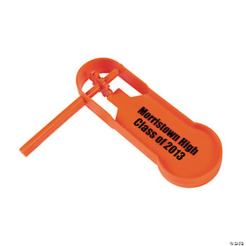 Personalized Giant Orange Noisemakers