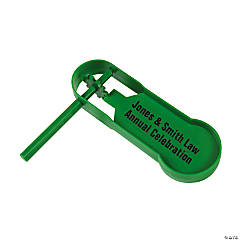 Personalized Giant Green Noisemakers