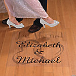 "Personalized ""Just Married"" Two Hearts Floor Cling"